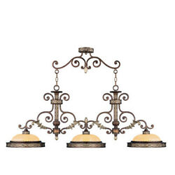 Livex Lighting 8546-64 Seville 3 Light Palacial Bronze With Gilded Accents