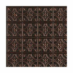 Gothic Reims-faux Tin Ceiling Tile - Antique Copper 25-pack Pack Of 25