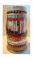 Budweiser Holiday Steins Collectible Holiday Stein Series Year 1981 Year 1981