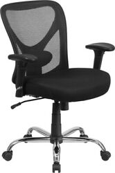 Flash Furniture Office Chair Adjustable Height Swivel Office Chair With - Wheels