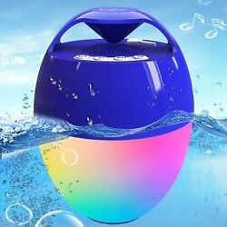 Portable Bluetooth Pool Speaker Hot Tub Speaker With Colorful Lights Ip68 Waterp