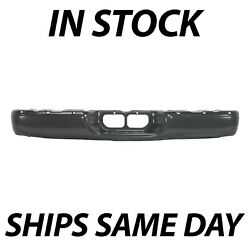 New Powder Coated Gray - Steel Rear Bumper Face Bar For 2000-2006 Toyota Tundra