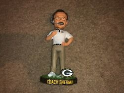 Coach Sherman Green Bay Packers Forever Collectibles Legends Field Bobblehead