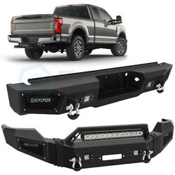 Eccpp Steel Front / Rear Bumper Guard Bar Fog Lamps For 2011-2016 Ford F 250