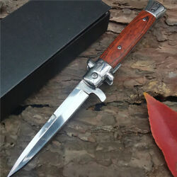 Outdoor Camping Hunting Tactical Survival Pocket Folding Italian Knife Combat