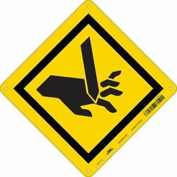 Condor 475a27 Safety Sign 10 In Height 14 In Width Aluminum Diamond English