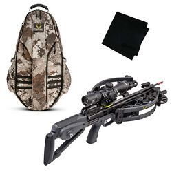 Tenpoint Havoc Rs440 Graphite Gray Crossbow Package + Bowpack + Cleaning Cloth