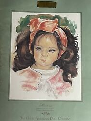 1989 Great American Doll Co. Rotraut Schrott Martina Watercolor Painting Ludwig