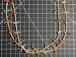 Mid Century Native Zuni Carved Fetish Necklace By Andrew Emerson Quam D.