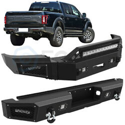 Eccpp Steel Front / Rear Bumper Guard Bar Fog Lamps For 2018-2020 Ford F 150