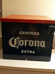 Rare Cerevza Corona Extra Metal Cooler/ice With Bottle Opener
