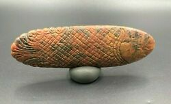 Ancient Near Eastern Antiquities Fish Figure Carved On Marble Stone 3500-2900 Bc