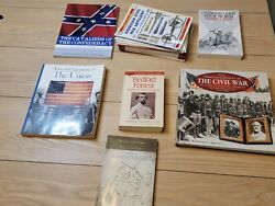 Confederate Civil War Book Collection Lot Nathan Bedford Forrest And More