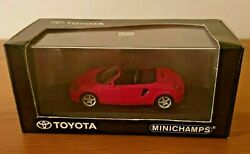 Minichamps Toyota Mr2 W3 Red Coupe Cabriolet Roadster Diecast Model Car 143