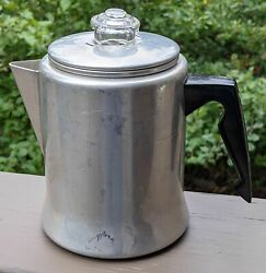 Mirro M-0805 Tiny Stovetop Percolator With A Glass Bubbling Top 5 Cup