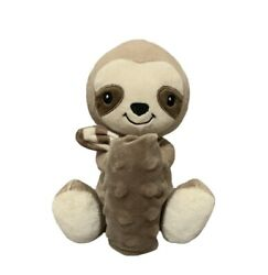 Moon and Stars Plush Sloth Stuffed Animal and Minky Baby Security Blanket Lovey