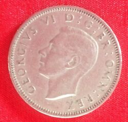 British 1949 One Shilling Coin