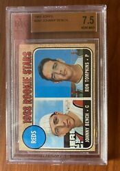 1968 Topps 247 Johnny Bench Rookie Card Bvg 7.5beauty Wow Subgrades 9,9,8.5