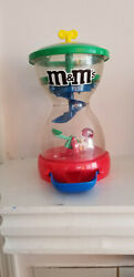 Collectors Vintage Mandm Candy Dispenser Green/red/yellow/blue Plastic Mars Rare