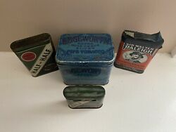 Vintage Tobacco And Misc Plus More Tin Lot Of 4 Total Pieces As Shown
