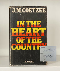 Signed X2 In The Heart Of The Country J. M. Coetzee. 1977 1st Edition. H Seedat