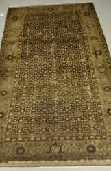 """Antique Persian Rug Hand Made Wool Brown And Beige 10' X 5'-1"""""""
