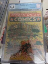 All American Comics 9 1939 Cgc 5.5 1st Mention Of Flash 2nd Ultra Man Dc History