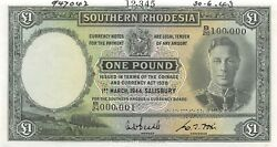 Southern Rhodesia 1 Pound 1.3.1944 P 10bs Specimen Uncirculated Banknote