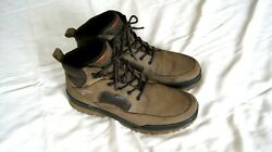 Preowned Ecco Track 6 Goretex Mens Ankle Boots Brown/coffee Size Eu45us11-11.5