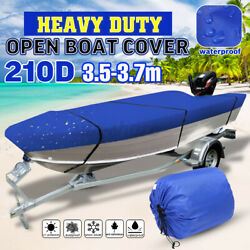 11.5and039-12and039 Trailerable Open Boat Cover 210d Trailers Fish Bass V-hull Waterproof