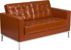 Flash Furniture Love Seats Cognac Color The Contemporary Style Cognac Upholstery