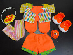 Cabbage Patch Kids Clown Outfit Mask Shoes Socks Hat Vintage Guc