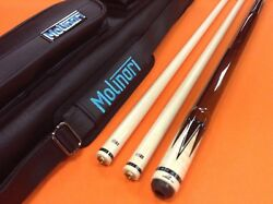 Longoni Pool Cue Giulietta Octagonal With 2 Shafts And Case