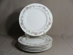 6 Crescent China By Ranmaru 10 1/4 Dinner Plates In The Limoge Pattern Japan