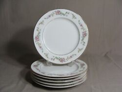 6 Crescent China By Ranmaru 7 1/2 Salad Plates In The Limoge Pattern Japan