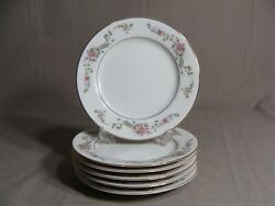 6 Crescent China By Ranmaru 6 1/4 Bread Plates In The Limoge Pattern Japan
