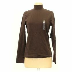 Made For Life Women's Shirt Size S, Brown, Cotton