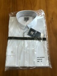 Nwt Cinch Menand039s Button Front Solid White Dress Shirt Size Xs In Original Bag