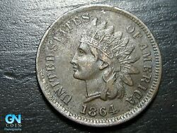 1864 L Indian Head Cent Penny -- Make Us An Offer K5057