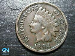 1894 Indian Head Cent Penny -- Make Us An Offer K4203