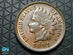 1897 Indian Head Cent Penny -- Make Us An Offer K6365