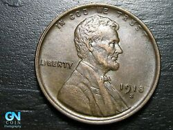 1918 S Lincoln Cent Wheat Penny -- Make Us An Offer B9509