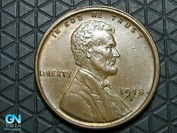 1918 S Lincoln Cent Wheat Penny -- Make Us An Offer K6565