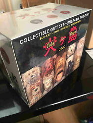 Isle Of Dogs Movie Collectible Gift Set Blu-ray Dvd Figure Set Of 6 Doll Pvc