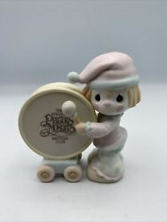 Precious Moments-clown Beating Drum-1st Birthday Club Figurine-members Only-1986