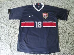 Vtg Nike Usa Us Soccer World Cup National Team Solo 18 Jersey Xl Signed