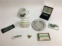 Vintage Lawn-boy Omc Advertising Lot Of 9 Knife Ashtray Cards Patches Ball Cup