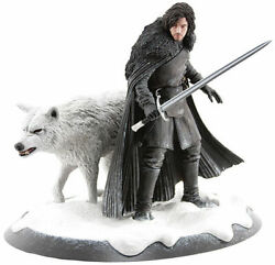 Nib Dark Horse Jon Snow And Ghost Limited Edition Statue Game Of Thrones 350/695