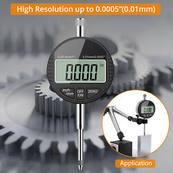 Digital Dial Test Indicator Dti Clock 0.01mm/.0005and039and039 Range 0-25.4mm/1and039and039 Gauge