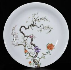 Chinese Exquisite Handmade Flower Pattern Porcelain Plate
